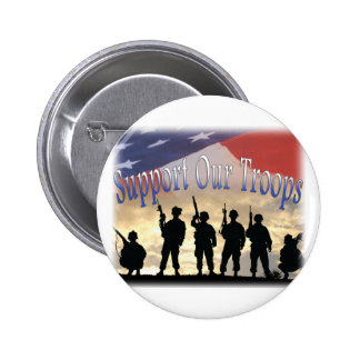 Support Our Troops Soldiers Pinback Button