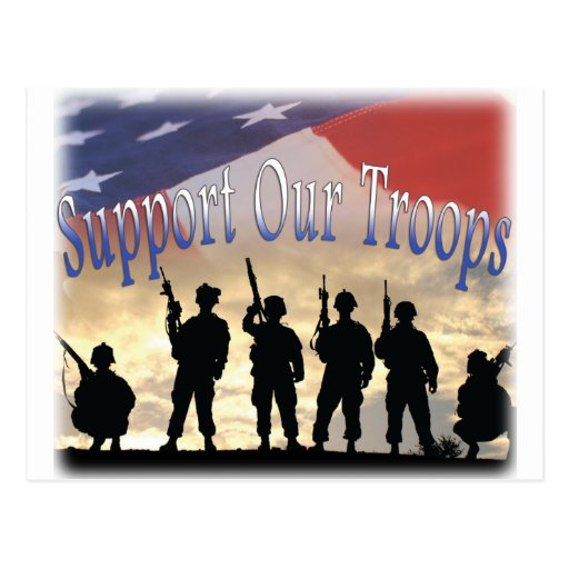 Support Our Troops Soldiers Post Cards