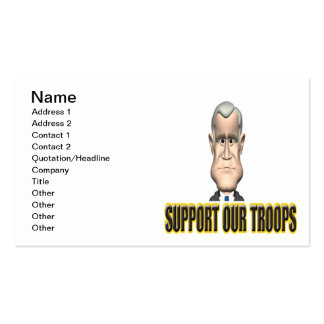 Support Our Troops Speech Business Card