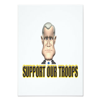 Support Our Troops Speech Card