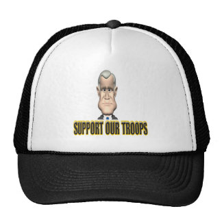 Support Our Troops Speech Trucker Hats