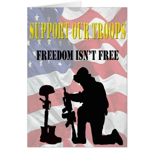 Support Our Troops Thank You Card