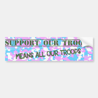 Support Our Troops Trans Pride Camo Sticker