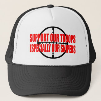 SUPPORT OUR TROOPS TRUCKER HAT