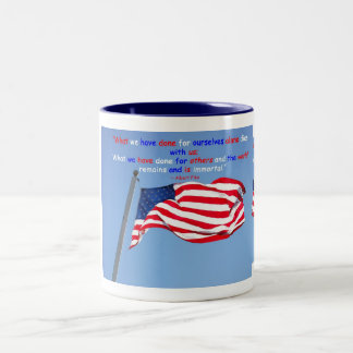 Support Our Troops Two-Tone Coffee Mug