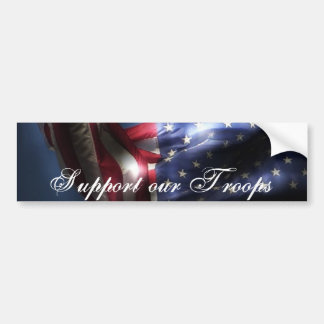 Support our Troops-U.S.A. Flag Car Bumper Sticker