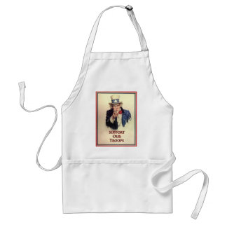Support Our Troops Uncle Sam Poster Adult Apron