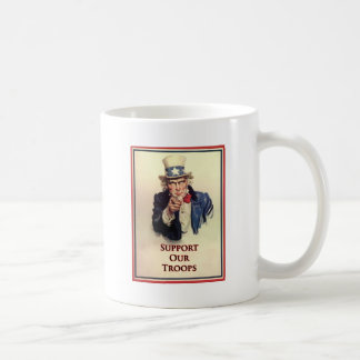 Support Our Troops Uncle Sam Poster Coffee Mug