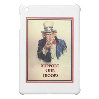 Support Our Troops Uncle Sam Poster iPad Mini Case