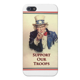 Support Our Troops Uncle Sam Poster Covers For iPhone 5