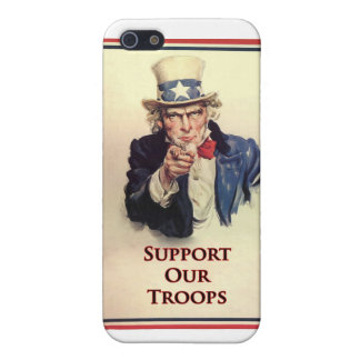 Support Our Troops Uncle Sam Poster iPhone SE/5/5s Case