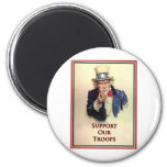 Support Our Troops Uncle Sam Poster Magnets