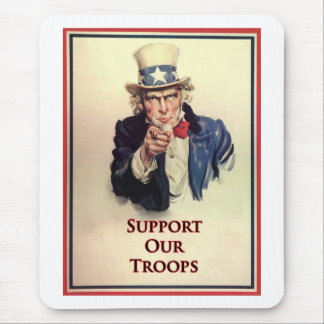 Support Our Troops Uncle Sam Poster Mouse Pad