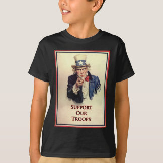Support Our Troops Uncle Sam Poster T-Shirt