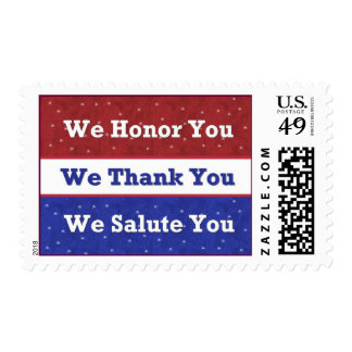 Support Our Troops - We Honor Thank Salute You Postage
