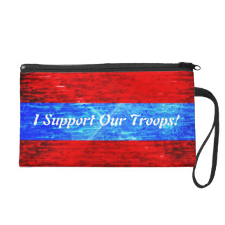 Support Our Troops Wristlet