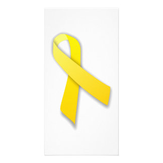 Support Our Troops Yellow Awareness Ribbon Personalized Photo Card