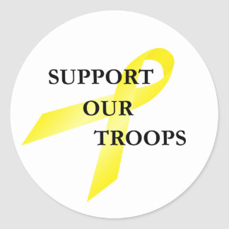 Support Our Troops Yellow Ribbon Stickers