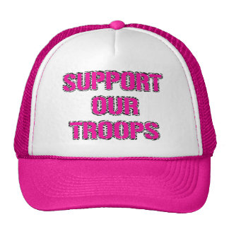 Support Our Troops- Zebra Print Hat