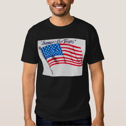 Support Our Troups Black T-Shirt