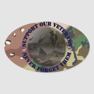 Support our veteran… the USA Oval Sticker