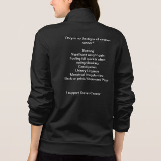 Support Ovarian cancer Patients Printed Jacket