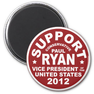 Support Paul Ryan Vice President Seal 2 Inch Round Magnet