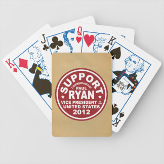 Support Paul Ryan Vice President Seal Bicycle Playing Cards