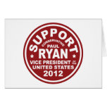 Support Paul Ryan Vice President Seal Greeting Card