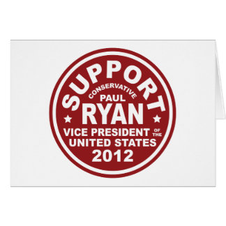 Support Paul Ryan Vice President Seal Card