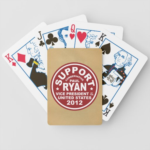 Support Paul Ryan Vice President Seal Poker Cards