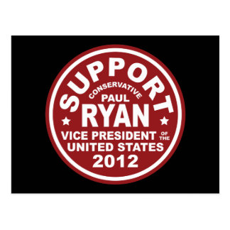 Support Paul Ryan Vice President Seal Postcard
