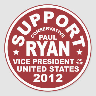 Support Paul Ryan Vice President Stickers