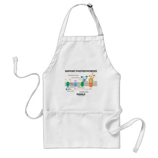 Support Photosynthesis Exhale (Biochemistry Humor) Adult Apron