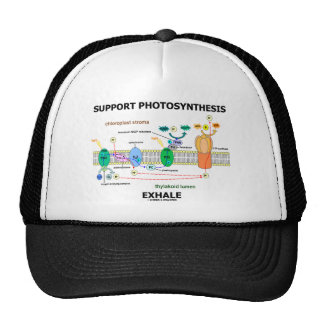 Support Photosynthesis Exhale (Biochemistry Humor) Trucker Hat