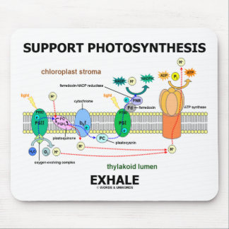 Support Photosynthesis Exhale (Biochemistry Humor) Mouse Pad