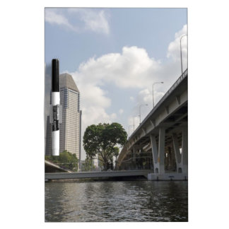 Support pillars of Benjamin Sheares Bridge Dry-Erase Whiteboard