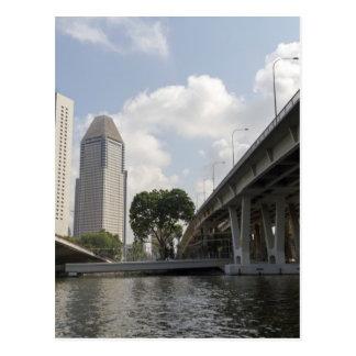 Support pillars of Benjamin Sheares Bridge Postcard