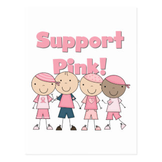 Support Pink Breast Cancer Awareness Tshirts Postcard