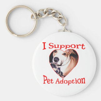 Support Pit Bull Adoption Keychain