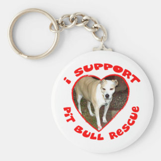 Support Pit Bull Rescue Key Chain
