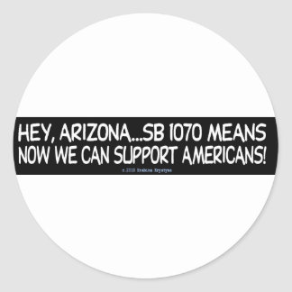 SUPPORT/PLAN AHEAD/MORE BENEFITS CLASSIC ROUND STICKER