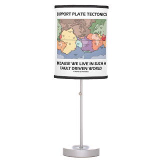 Support Plate Tectonics Because We Live In A Fault Desk Lamps