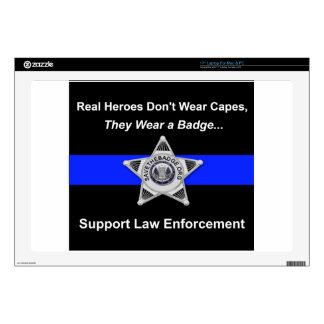 Support Police Heroes Decals For Laptops