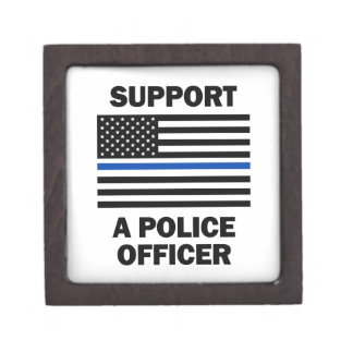 Support Police Officers Jewelry Box