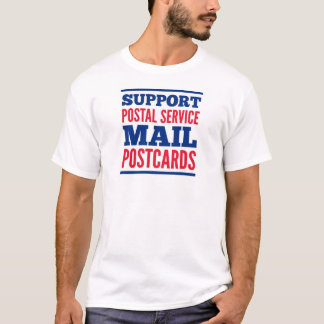 Support Postal Service & Mail Postcards T-Shirt