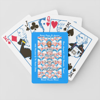 Support President Obama Bicycle Playing Cards