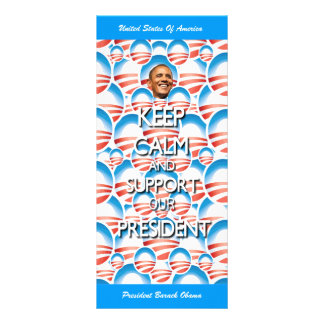 Support President Obama Customized Rack Card