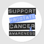 Support Prostate Cancer Awareness Round Stickers