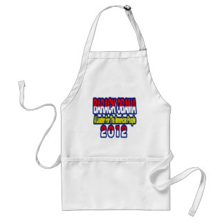 SUPPORT RE-ELECT OBAMA 2012 ADULT APRON
